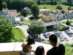 Blick auf den Schlossparkplatz